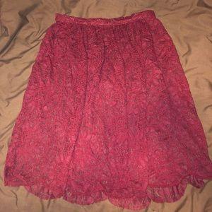 Xhilaration Skirts - Deep burgundy midi skirt